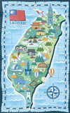 Taiwan travel map Stock Images