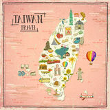 Taiwan travel map Royalty Free Stock Photos