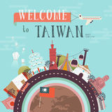 Taiwan travel poster Royalty Free Stock Images