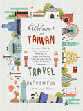 Taiwan travel poster Royalty Free Stock Photos