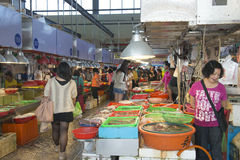 Taiwan Tungkang traditional seafood market Stock Photo