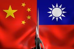 Taiwan-Unabhängigkeit und -Sezession von einem China-Politikkonzept, Wiedergabe 3D vektor abbildung