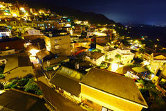 Taiwan village at night, Jiufen Royalty Free Stock Image