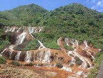 Taiwan waterfall. Taiwan scenic waterfall garden park stock photography