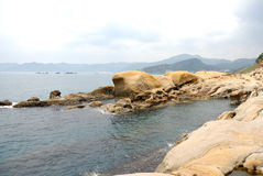 Taiwan Yehliu Geo-parkerar landskap Royaltyfria Bilder