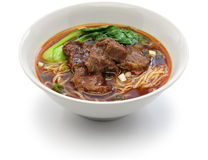 Taiwanese beef noodle soup Royalty Free Stock Image
