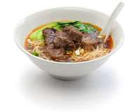 Taiwanese beef noodle soup Royalty Free Stock Images
