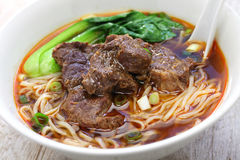 Taiwanese beef noodle soup Stock Image