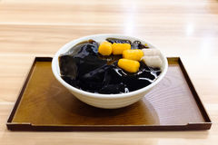 Taiwanese dessert made from grass jelly royalty free stock photo