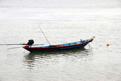 Taiwanese Fishing Boat Moored on Calm River Royalty Free Stock Image