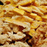Taiwanese fried crispy sweet potato fries and deep fried popcorn chicken Stock Photography