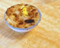 Taiwanese gastronomisch, rijstcake in een komclose-up stock foto's
