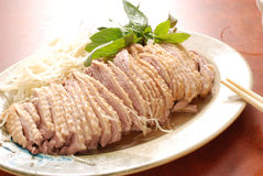 Taiwanese goose plate. Chinese goose plate in Taiwanese sytle, served with sliced ginger Royalty Free Stock Photography