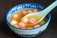 Taiwanese homemade tangyuan dessert, served for special Chinese holidays Royalty Free Stock Photos