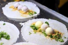 Taiwanese Icecream Roll Dessert. Popular unique Taiwanese dessert that wraps icecream with rice paper Stock Photo