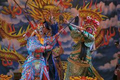 Taiwanese opera. Taiwanese opera is one of outdoor theater. Show in temple fairs to reward the god. Photo taken on: May 25th, 2014 in Miaoli,Taiwan Stock Photo