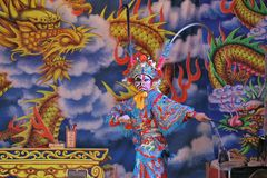 Taiwanese opera. Taiwanese opera is one of outdoor theater. Show in temple fairs to reward the god. Photo taken on: May 25th, 2014 in Miaoli,Taiwan Stock Photography