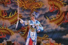 Taiwanese opera. Taiwanese opera is one of outdoor theater. Show in temple fairs to reward the god. Photo taken on: May 25th, 2014 in Miaoli,Taiwan Stock Image