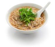 Taiwanese pork large intestine vermicelli. Pork large intestine vermicelli soup, Taiwanese noodle cuisine stock photos