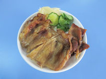 Taiwanese roasted pork rice Stock Photos