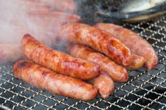 Taiwanese sausages on the grill Stock Images