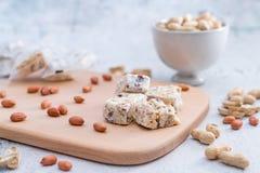 Taiwanese snack peanut crispy sugar stock photo