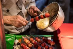 Taiwanese street food dessert made stock images