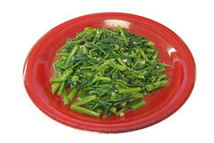 Taiwanese Style Meal - Water Spinach Stir-fry Stock Images