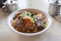 Taiwanesische Rindfleisch-Nudel Stockfoto