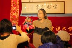 Taiwanesisk dockteaterföreställning Fotografering för Bildbyråer