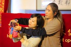 Taiwanesisk dockteaterföreställning Royaltyfri Bild