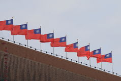 Taiwanesisk nationsflagga Taiwan Arkivfoto