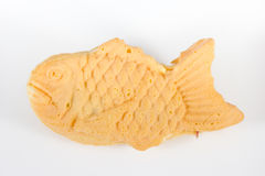 Taiyaki cakes on white background,Japanese confectionery Royalty Free Stock Image