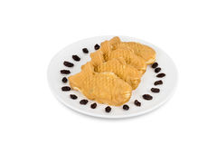 Taiyaki cakes on white background,Japanese confectionery,clippin Royalty Free Stock Photos