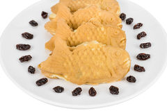 Taiyaki cakes on white background,Japanese confectionery,clippin Royalty Free Stock Photography