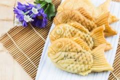 Taiyaki-Fischpfannkuchen Lizenzfreies Stockfoto