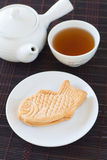 Taiyaki, Japanese fish shaped cake. Made using regular pancake or waffle batter Royalty Free Stock Image