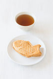 Taiyaki, Japanese fish shaped cake Royalty Free Stock Photo