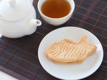 Taiyaki, Japanese fish shaped cake Stock Photography