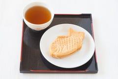 Taiyaki, Japanese fish shaped cake Stock Photos