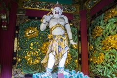 Taiyu-in, Nikko, Japan. Kendara, who protects the west sky. One of the four guardian deities in the Yashamon gate of Taiyuin temple, Nikko, Japan Stock Photo