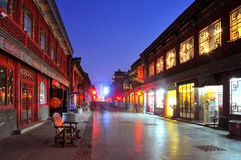 Taiyuan ancient architecture Night Stock Photos