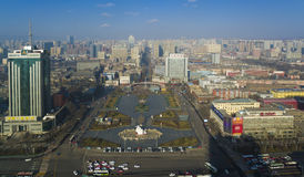 Taiyuan city china. Overview taiyuan city of China Royalty Free Stock Photo