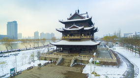Taiyuan fenhe river snow china Stock Images