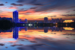 Taiyuan Night. Eastphoto, tukuchina,  Taiyuan Night, City Landscape Royalty Free Stock Photo
