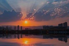 Taiyuan Night. Eastphoto, tukuchina,  Taiyuan Night, City Landscape Stock Photo