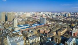 Taiyuan overview shanxi china. Taiyuan city  overview shanxi China Stock Images