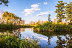 Taiyuan scene-Fenhe wetland Royalty Free Stock Image