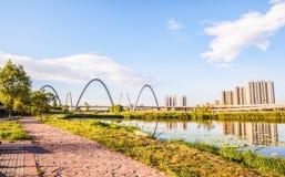Taiyuan scene-Fenhe wetland Royalty Free Stock Images