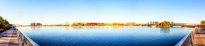 Taiyuan scene. Taken in the Fenghe Park of Taiyuan, shanxi, China Royalty Free Stock Photo